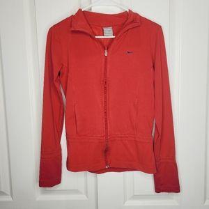 Nike Red Dri-Fit Zip Up Hoodie Small